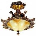 Close-Ceiling Art Deco Light