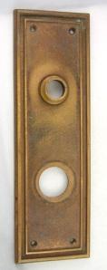 Simple Bronze Door Plate